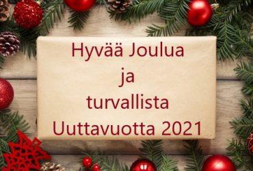 Hyvää Joulua ja Turvallista Uuttavuotta!!