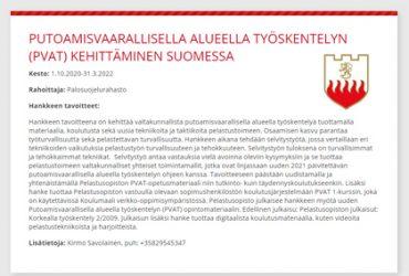 PVAT -koulutusjulkaisu yhteistyössä Pelastusopiston kanssa!